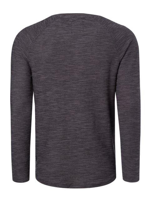 REVIEW Sweatshirt in Boucléoptik Graphit meliert - 1