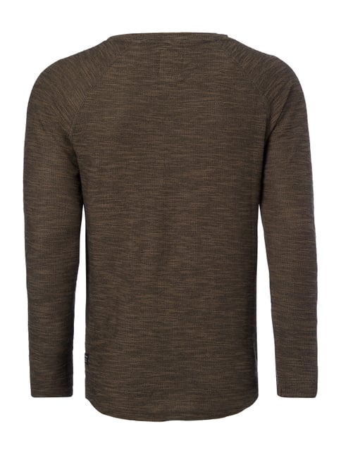 REVIEW Sweatshirt in Boucléoptik Olivgrün meliert - 1