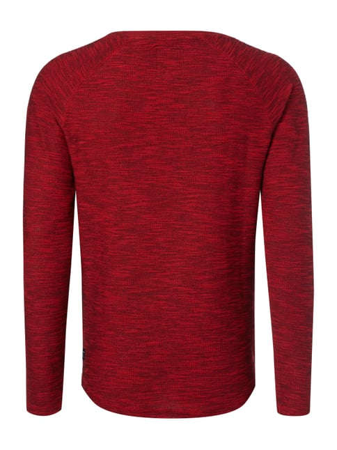 REVIEW Sweatshirt in Boucléoptik Rot meliert - 1