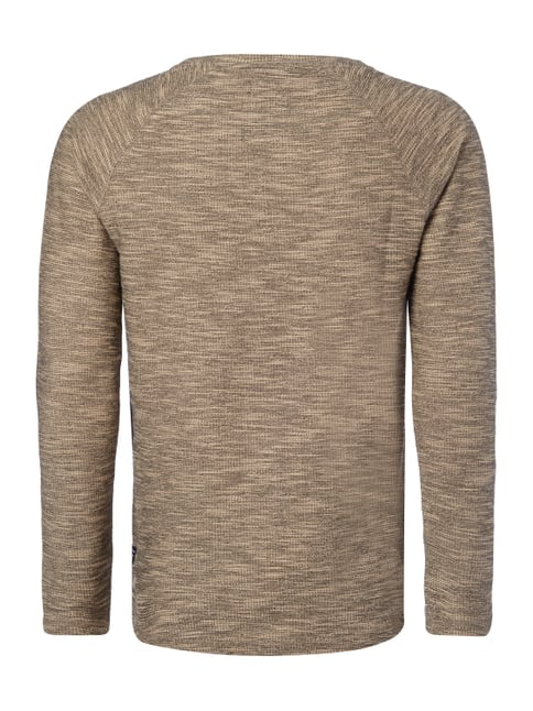 REVIEW Sweatshirt in Boucléoptik Sand meliert - 1