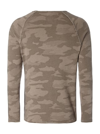 REVIEW Sweatshirt mit Camouflage-Muster Taupe meliert - 1