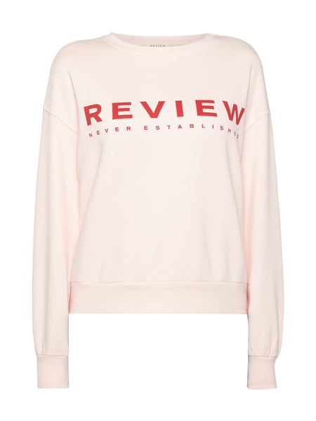 REVIEW Sweatshirt mit Logo-Print Pink
