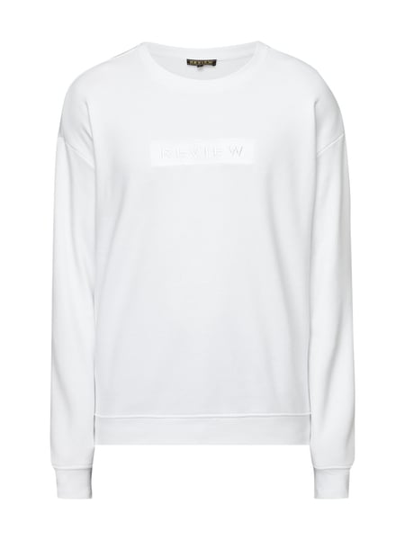 REVIEW Sweatshirt mit Logo-Stickerei Weiß