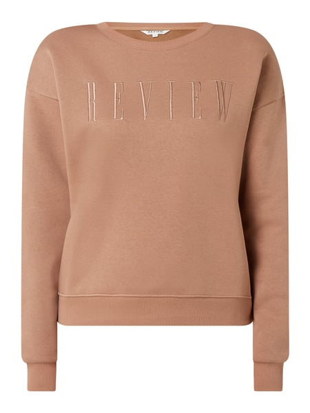 REVIEW Sweatshirt mit Logo Beige - 1