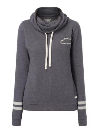 Sweatshirt mit Tube Collar Rot - 1