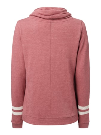 REVIEW Sweatshirt mit Tube Collar Pflaume meliert - 1