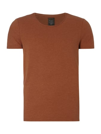 T-Shirt aus Jersey - meliert Orange - 1