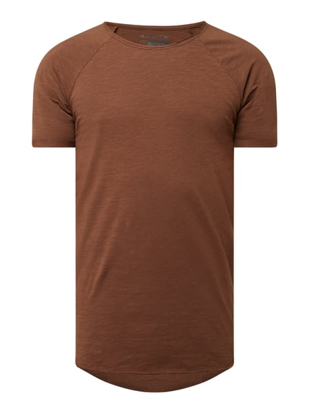 REVIEW T-Shirt aus Slub Jersey Braun - 1