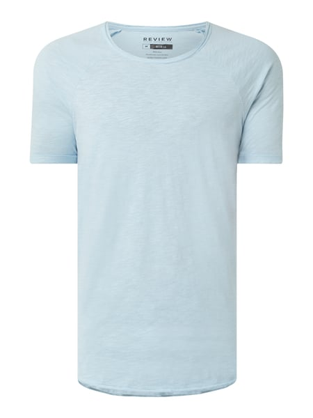 REVIEW T-Shirt aus Slub Jersey Blau - 1