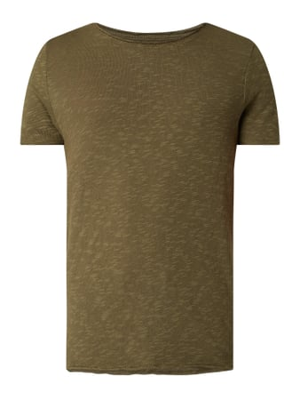 REVIEW T-Shirt aus Slub Jersey Grün - 1
