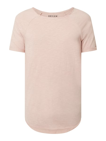 REVIEW T-Shirt aus Slub Jersey Rosa - 1