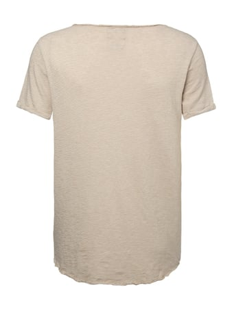 REVIEW T-Shirt aus Slub Knit Beige - 1