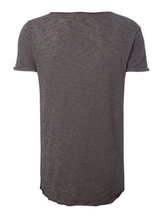 REVIEW T-Shirt aus Slub Knit Mittelgrau - 1
