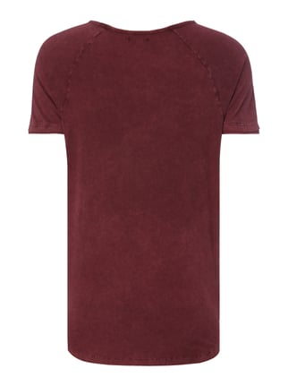 REVIEW T-Shirt im Washed Out Look Purple - 1