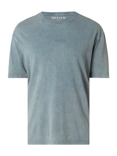 REVIEW T-Shirt im Washed Out Look Blau - 1