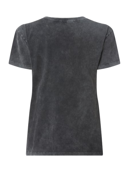 REVIEW Sweatshirt im Washed Out Look mit Print in Grau