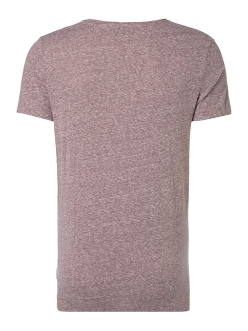 REVIEW T-Shirt in Melangeoptik Aubergine meliert - 1