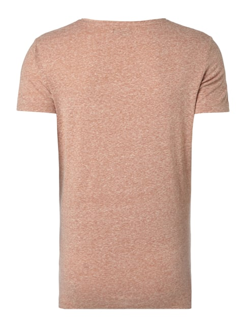REVIEW T-Shirt in Melangeoptik Camel meliert - 1