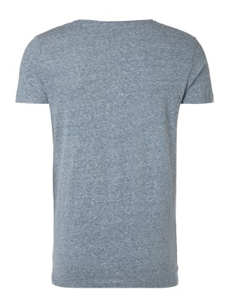 REVIEW T-Shirt in Melangeoptik Dunkelblau meliert - 1