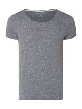 REVIEW T-Shirt in Melangeoptik Blau / Türkis - 1
