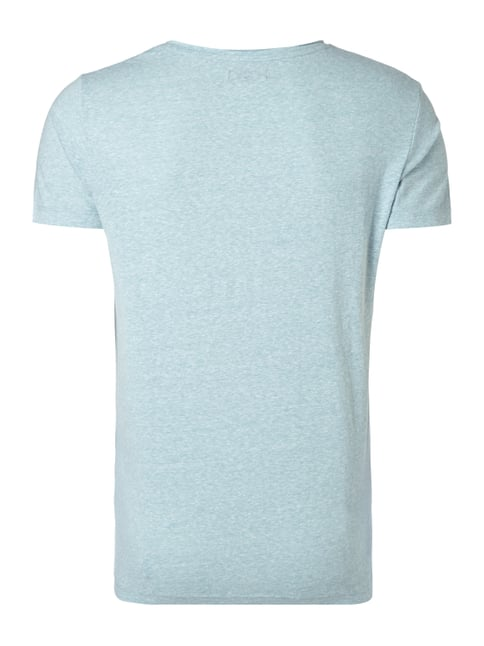 REVIEW T-Shirt in Melangeoptik Hellblau meliert - 1