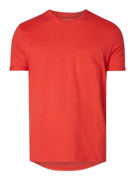 REVIEW T-Shirt mit Brusttasche Rot - 1