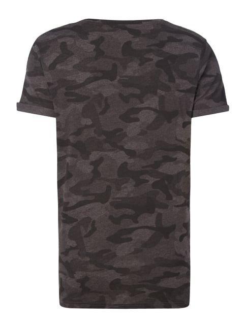 REVIEW T-Shirt mit Camouflage-Muster Anthrazit meliert - 1