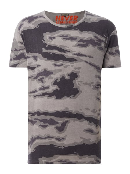 REVIEW T-Shirt mit Camouflage-Muster Grau / Schwarz - 1