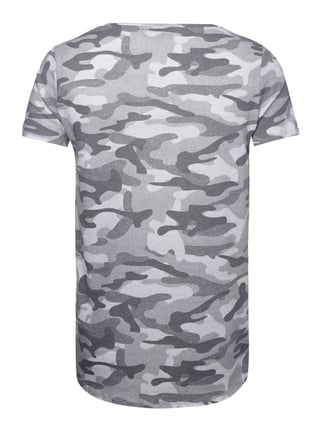 REVIEW T-Shirt mit Camouflage-Muster Mittelgrau - 1