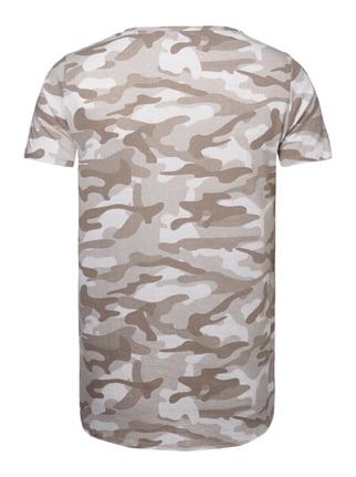 REVIEW T-Shirt mit Camouflage-Muster Taupe - 1