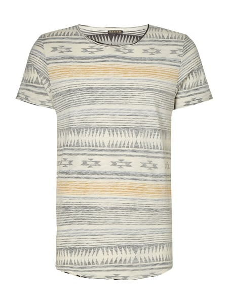fe4ecbcd1b8d1c REVIEW T-Shirt mit Ethno-Muster in Weiß online kaufen (9615815 ...