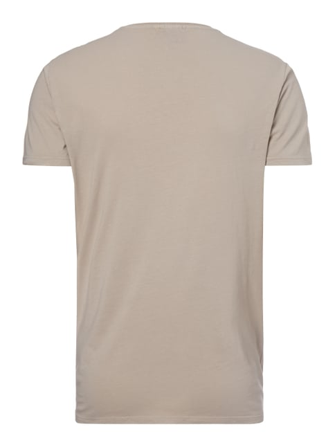 REVIEW T-Shirt mit KISS®-Print Beige - 1
