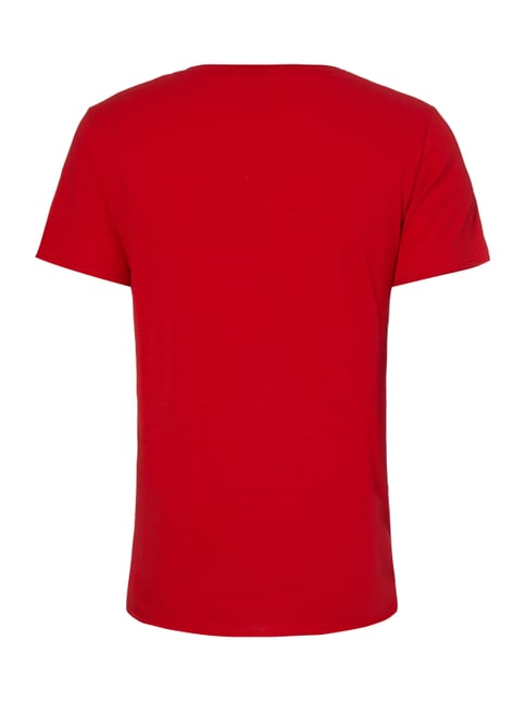 REVIEW T-Shirt mit Kontrastdetails Rot - 1
