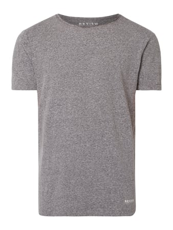 REVIEW T-Shirt mit Logo-Print Grau - 1