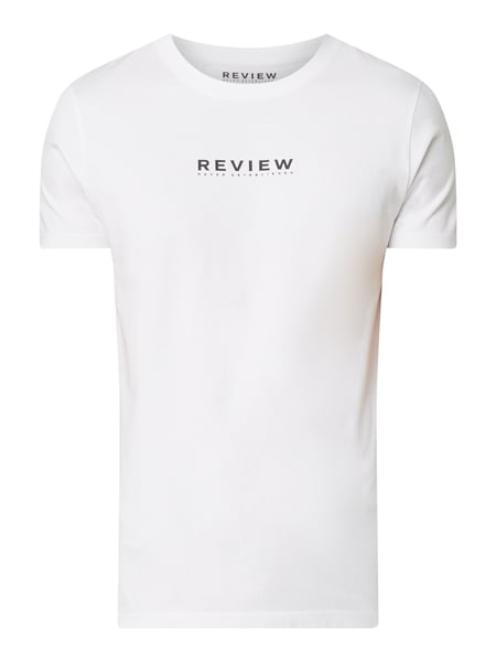 REVIEW T-Shirt mit Logo-Print Weiß - 1