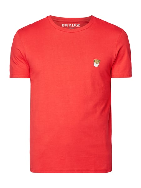 REVIEW T-Shirt mit Stickerei Rot - 1