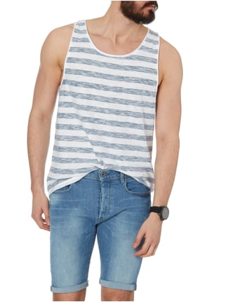 REVIEW Tanktop im Inside-Out-Look Marineblau - 1