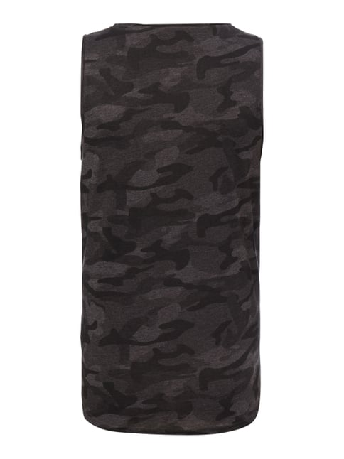 REVIEW Tanktop mit Camouflage-Muster Anthrazit meliert - 1
