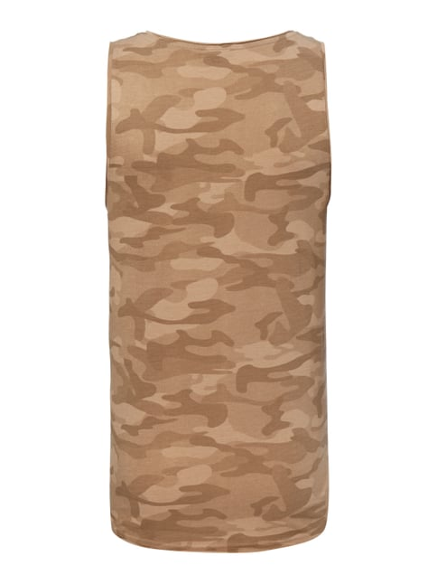 REVIEW Tanktop mit Camouflage-Muster Beige meliert - 1