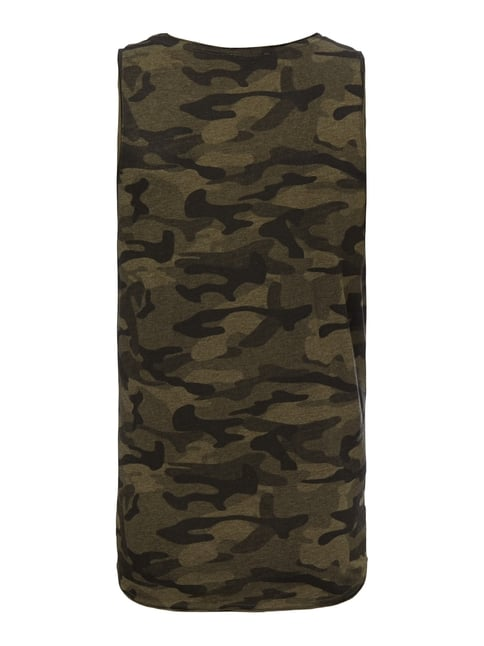 REVIEW Tanktop mit Camouflage-Muster Olivgrün meliert - 1