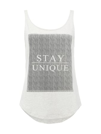 REVIEW Tanktop mit Message-Print Weiß - 1