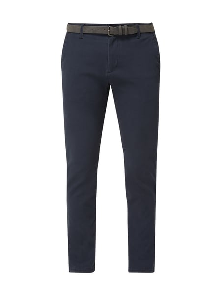 REVIEW Tapered Fit Chino mit Gürtel Blau - 1