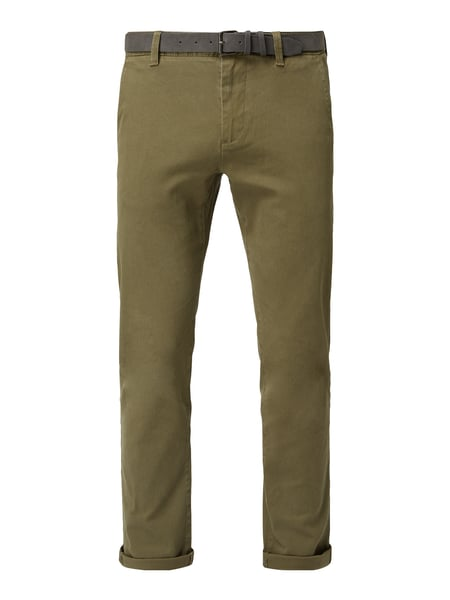 REVIEW Tapered Fit Chino mit Gürtel Grün - 1