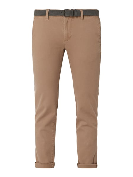 REVIEW Tapered Fit Chino mit Gürtel Beige - 1