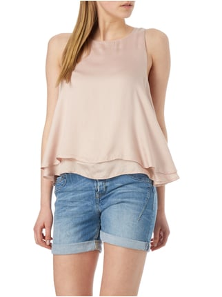 REVIEW Top im Double-Layer-Look Rosé - 1