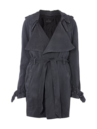 Trenchcoat im Washed Out Look Grau / Schwarz - 1