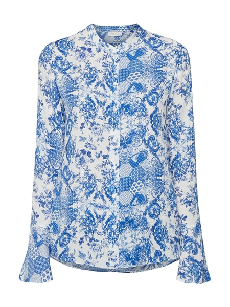 Rich & Royal Bluse mit Allover-Muster Blau - 1