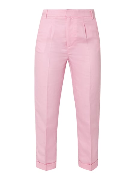 Rich & Royal Bundfaltenhose mit Logo-Applikation Rosé - 1