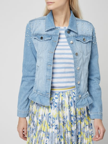 rich and royal jeansjacke mit sternen