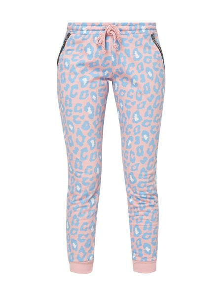 Rich & Royal Sweatpants mit Leopardenmuster Hellrosa
